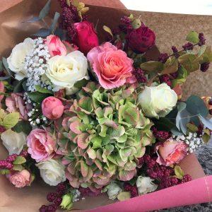 Bouquet de fleurs fraiches rond coloré