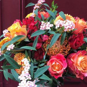 Bouquet de fleurs fraiches champêtre coloré