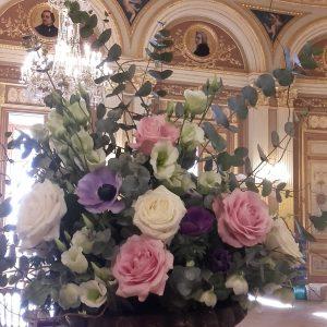 Bouquet de fleurs fraîche champêtre pastel