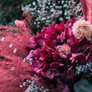 bouquet de fleurs séchées rose c'est la vie XL