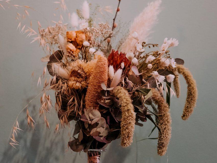 bouquet de fleurs séchées nature douce