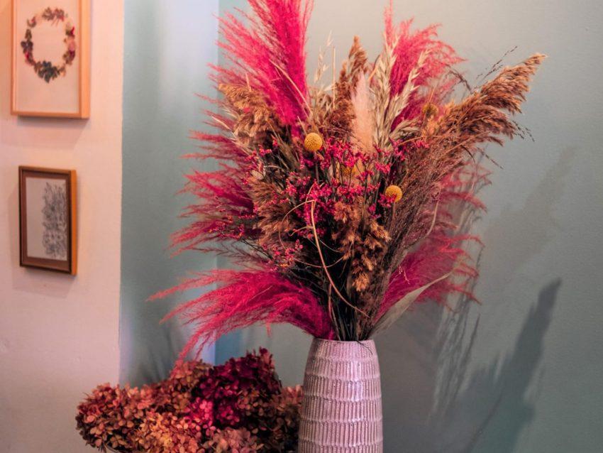 Bouquet de fleurs séchées rose L
