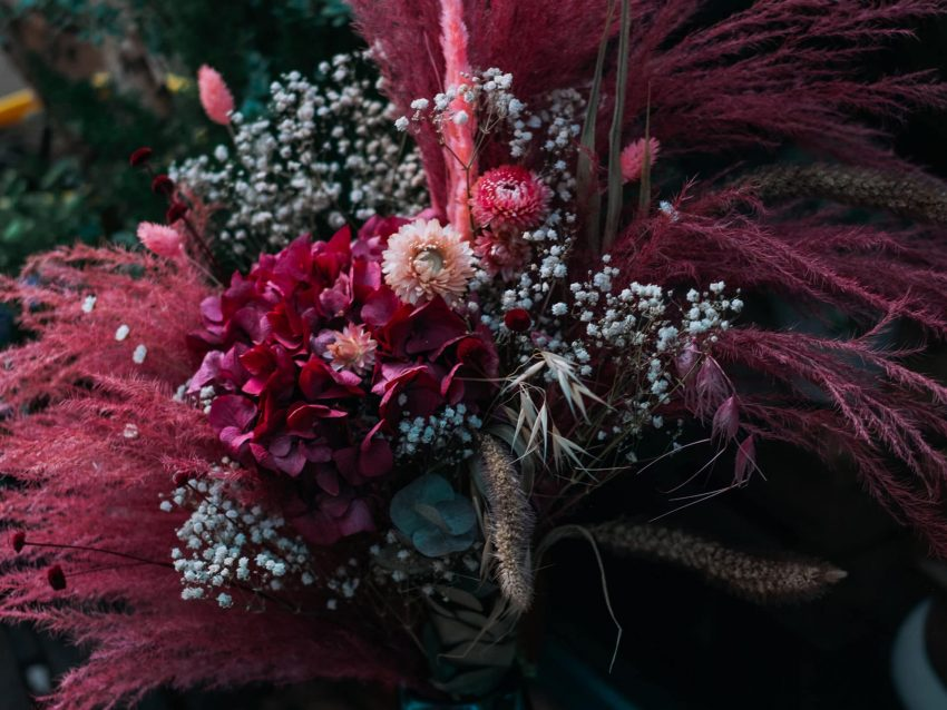 """Bouquet de fleurs séchées """"C'est la vie"""""""