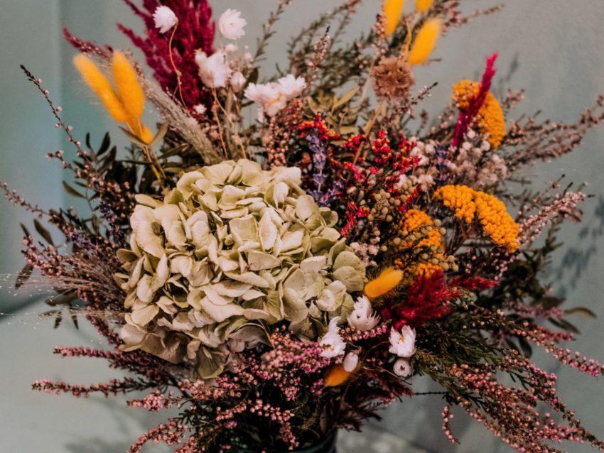 Bouquet de fleurs séchées coucher de soleil L