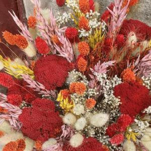 Bouquet de fleurs séchées coucher de soleil XL