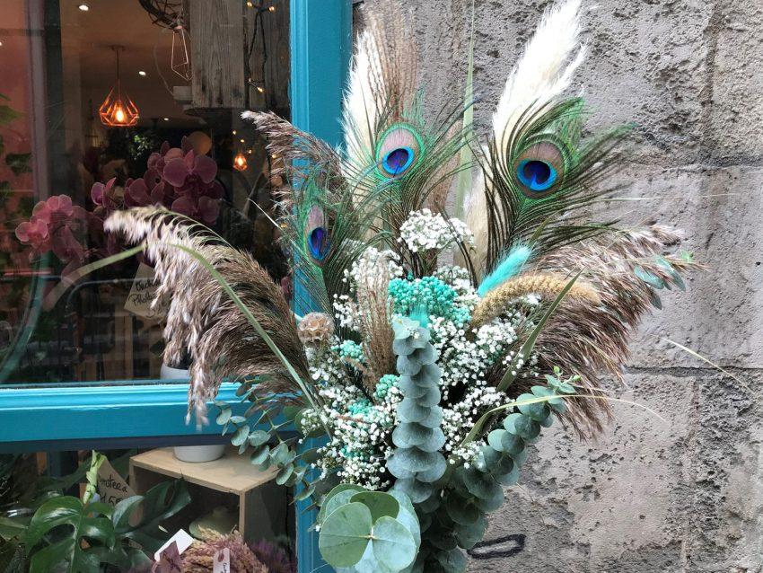 bouquet fleurs séchées faune et flore