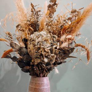 bouquet fleurs séchées nature douce